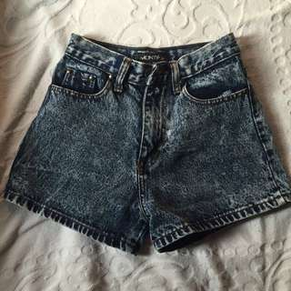 Denim Highwaisted Shorts