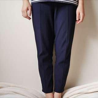 Textured Navy Comfy Pants