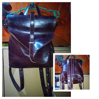 REPRICED! Brown Leather Bag