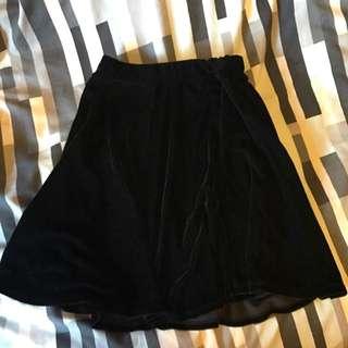 Dotti Velvet A Line Skirt Size 6
