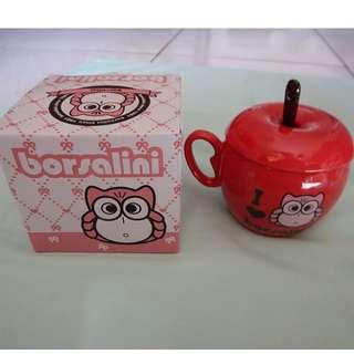 限量Borsalini 蘋果貓頭鷹造型杯-紅色