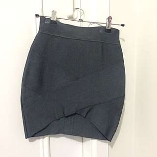 Dark Grey Bandage Skirt
