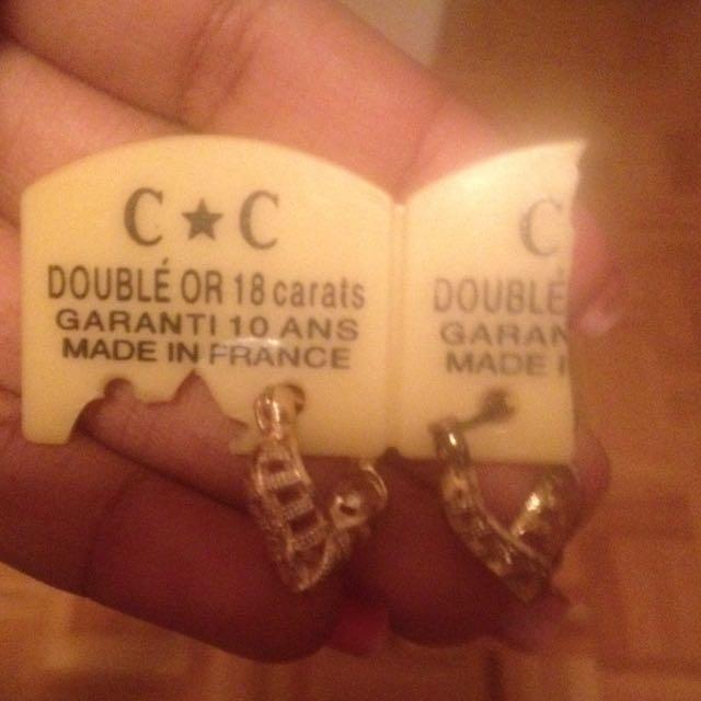 18 Carat Gold Earrings