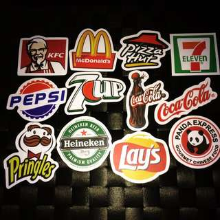 Sticker Waterproof High Quality - Food And Beverages Brands Stickers
