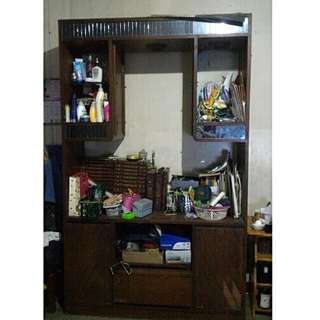 PRE LOVED Pure Wood Sala Cabinet (Items Not Included)
