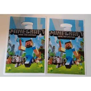 New 10 pcs Minecraft Plastic Party Lolly Bags
