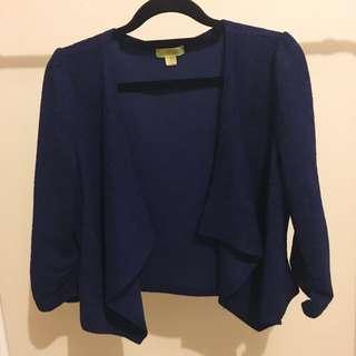 Blue Cropped Jacket