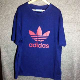 adidas 深藍紅logo 特殊款上衣 日本購入