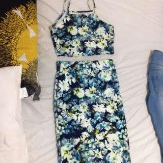Crop And Skirt Set