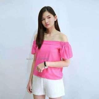 Pink Off Shoulder Top #SALE