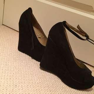 Black Wedged Heels