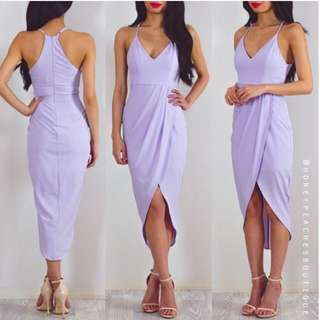 Honey Peaches Lilac Dress Midi Size 10