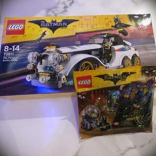 LEGO Penguin Arctic Roller (MSIB) + Exclusive Batman Movie Polybag Set (BNIB)