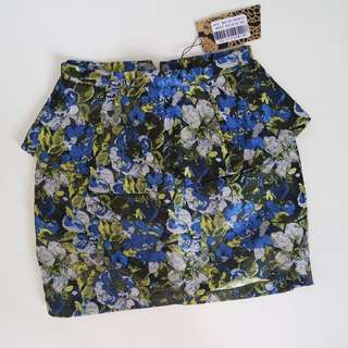 ZALORA Flower Peplum Skirt