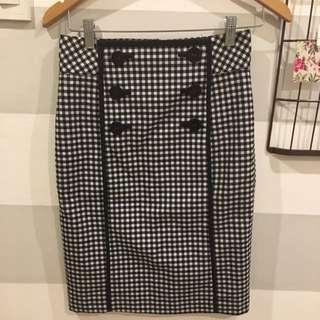 BYSI checkered skirt
