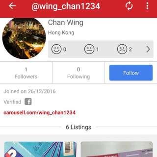 騙子賣家wing_chan1234 /Chan Shing Yan