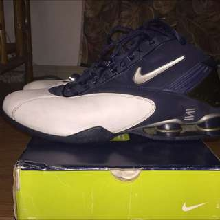 Used Nike Shox Men Size 13 Blue & White