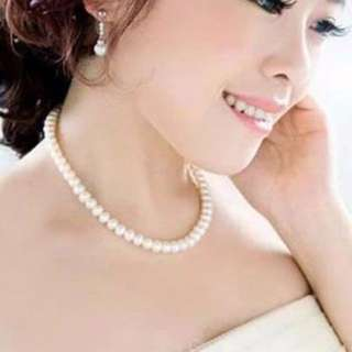 [CLEARANCE] Korea Faux Pearl Bridal Necklace
