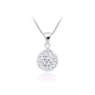 [CLEARANCE] 925 Silver Shiny Disco Ball Necklace