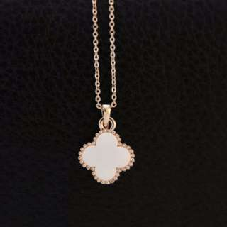 [CLEARANCE] Clover Necklace (White)