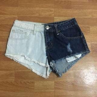 Mint Denim Shorts