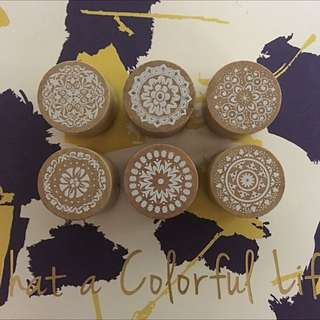 Mandala Rubber Stamps- Round Wooden Stamps