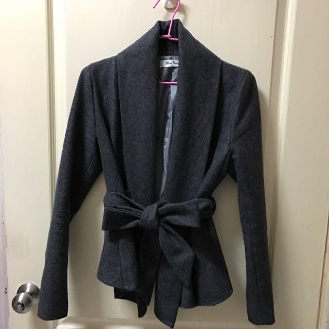 正韓灰色類西裝外套