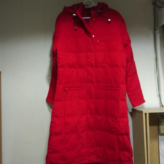全新💕紅色羽絨外套#全部五折出清