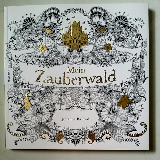 Adult Coloring Book Enchanted Forest German Mein Zauberwald By