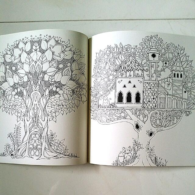 Adult Coloring Book Enchanted Forest German Mein Zauberwald By Johanna Basford Design Craft Others On Carousell