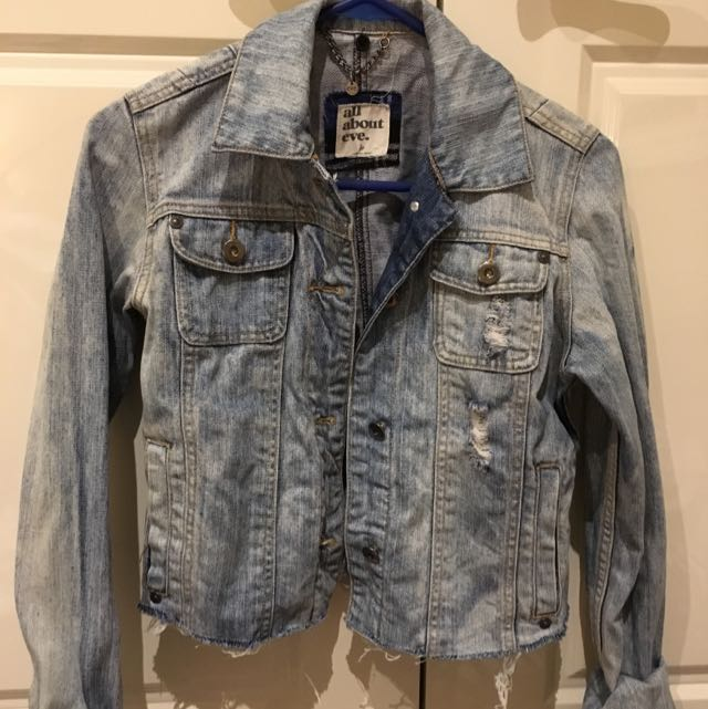 All About Eve ripped Denim Jacket