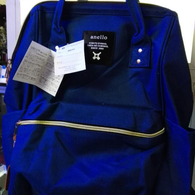 Anello Backpack In Blue, Red