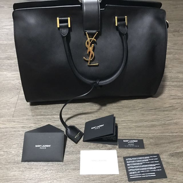 746dced84ff8 Authentic YSL Medium Cabas Bag - Black