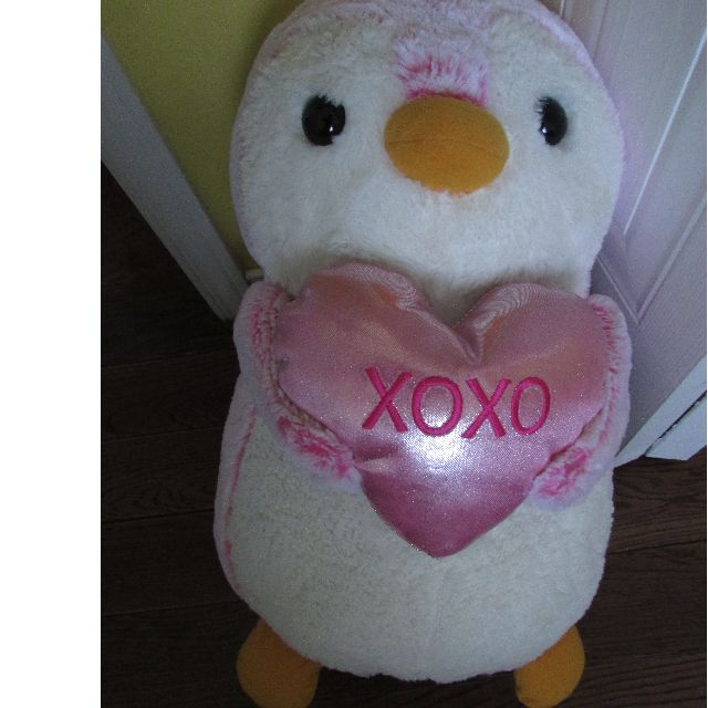 Big TY Valentine's Day Penguin Teddy bear