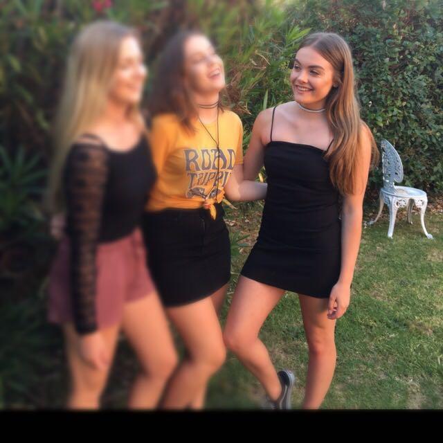 Black Body Con Spaghetti Strap Dress