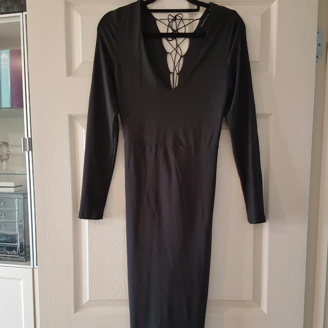 Black Long Sleeve Dress Rosebullet Size 10