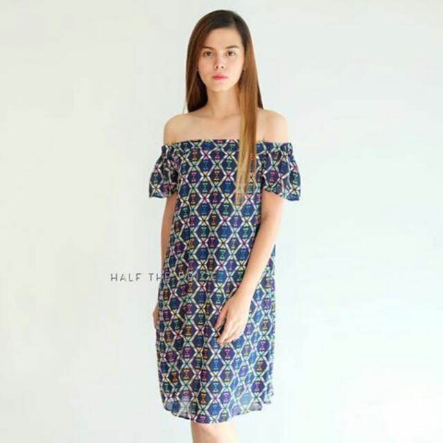 Blue Printed Georgette Dress #SALE