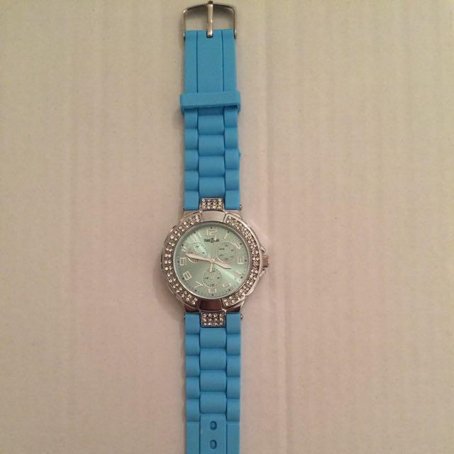 Blue Rubber Watch