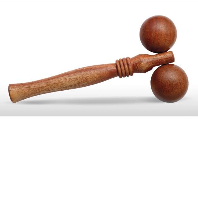 Bodyshop Twin Ball Massager (Wooden)