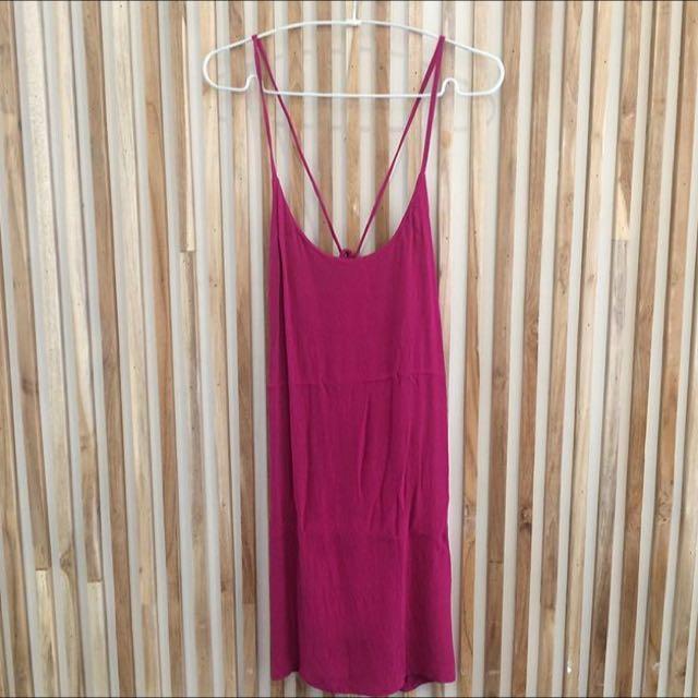 Bright purple dress