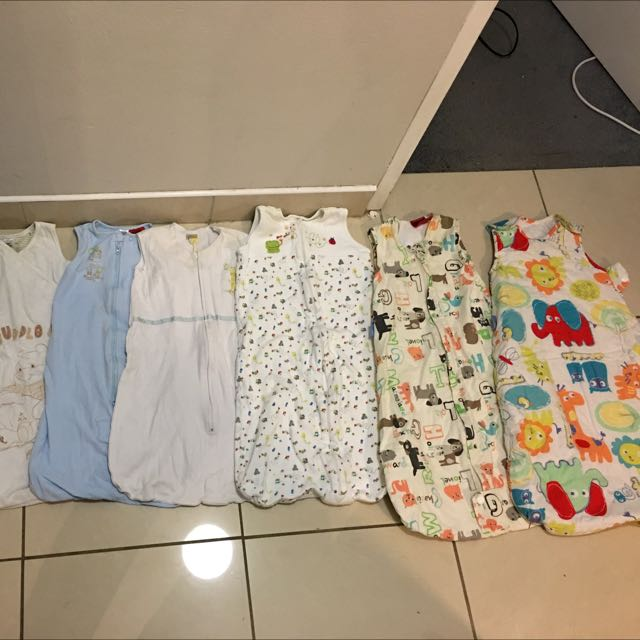 Bulk Lot Of 7 Baby Sleeping Bags Grobag Disney 1.0 2.5 Togs 0-6 Months