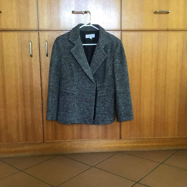 REDUCED SALE Calvin Klein Charcoal Grey Moro Jacket Blazer Coat