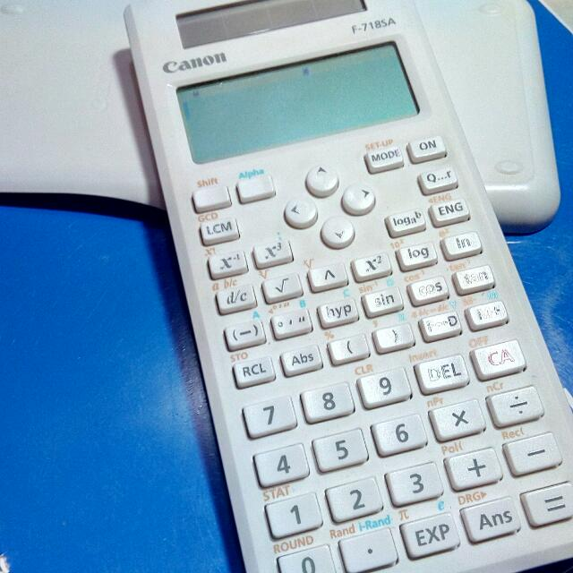 Canon F-718SA Scientific Calculator (White)