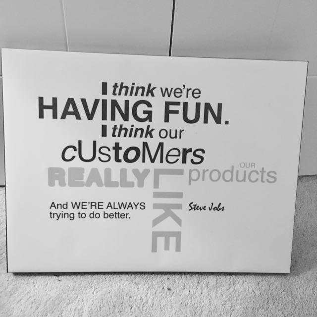 Canvas Steve Jobs quote