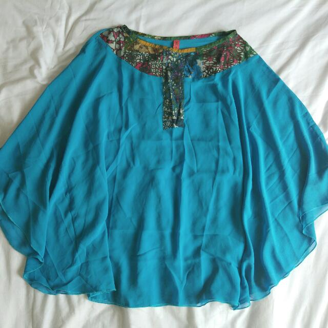 Chiffon Batwing Blouse (non cut out)