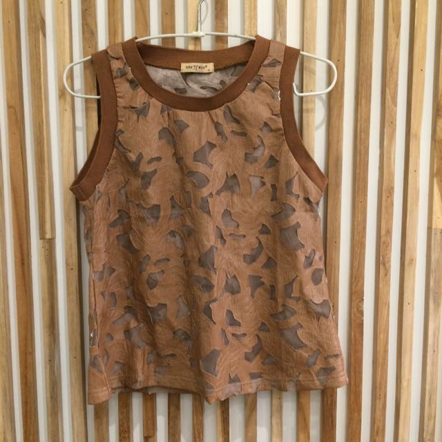 Cut Out Top- brown