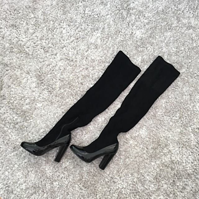 Daisy Street Thigh High Sock Boots