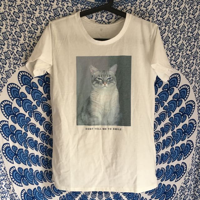Don't Tell Me To Smile Cat Tee