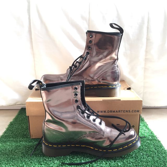 Dr. Martens 1460 W Boots Pewter Metallic