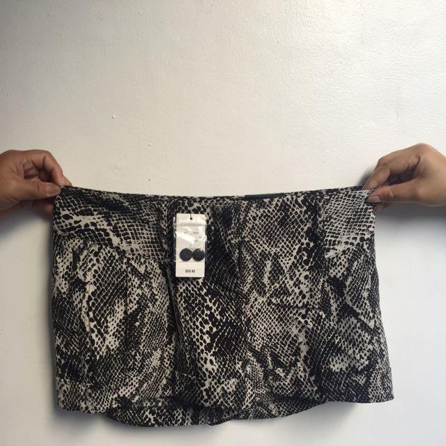 BRAND NEW Express B&W Shorts